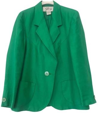 Genny Green Linen Jacket for Women