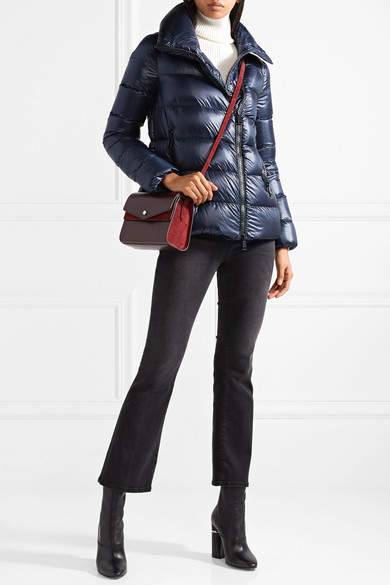 Moncler Salix Quilted Shell Down Jacket - Navy