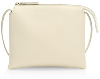 The Row Nu Mini Twin Leather Shoulder Bag