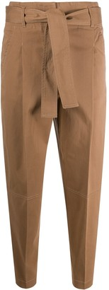 Peserico Cropped Front Tie Trousers