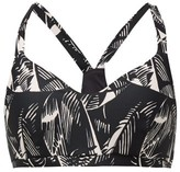 The Upside Larri Japanese Forest-print Low-impact Sports Bra - Womens - Black Pink
