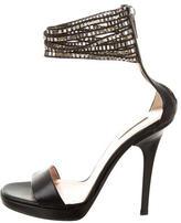 Calvin Klein Collection Embellished Ankle Strap Sandals