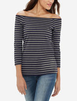 The Limited Striped Off-the-Shoulder Top