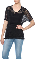 Monoreno Black Crochet Top