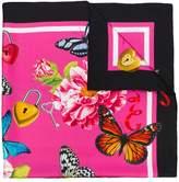 Dolce & Gabbana butterfly border print scarf