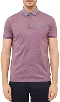 Ted Baker Quince Geo Print Regular Fit Polo