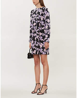 Diane von Furstenberg Joyce loose-fit floral-print silk mini dress