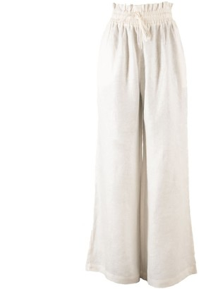 Nary Kampot Linen Lounge Pant In White