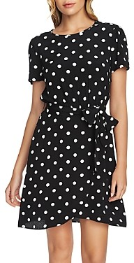 1 STATE 1.state Short-Sleeve Dot Print Dress