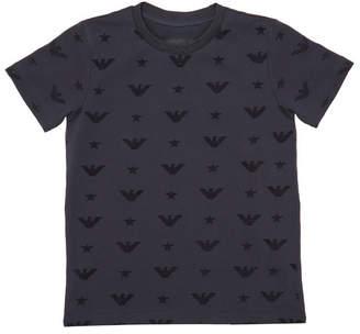 Emporio Armani Boy's Eagle Jacquard Short-Sleeve Tee, Size 4-16