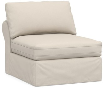 Pottery Barn PB Air Roll Arm Slipcovered Sectional - Brushed Basketweave, Oatmeal
