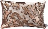 Aviva Stanoff Two Tone Mermaid Sequin Cushion - Bronze - 30x45cm