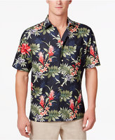 Tasso Elba Men's Silk & Linen Wild Orchid Shirt, Only at Macy's