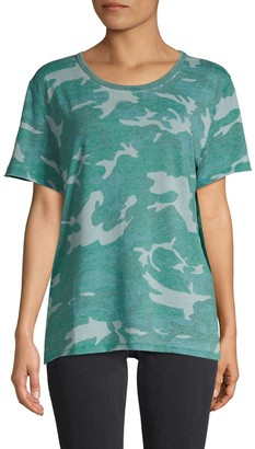 Free People Camouflage Cotton-Blend Tee