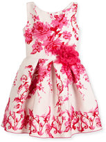Zoë Ltd Sleeveless Pleated Floral Jacquard Dress, Pink, Size 2-6