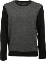 Michael Kors Black Herringbone Pattern Sweater