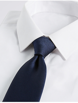 M&S Collection Pure Silk Satin Twill Textured Tie