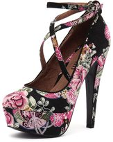 Mollini Officers Black Floral Print