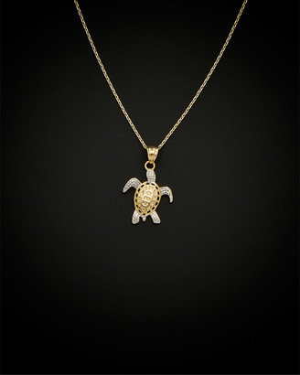 Italian Gold 14K Two-Tone Turtle Necklace