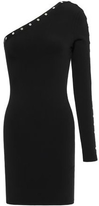 Alexander Wang One-shoulder Studded Stretch-knit Mini Dress