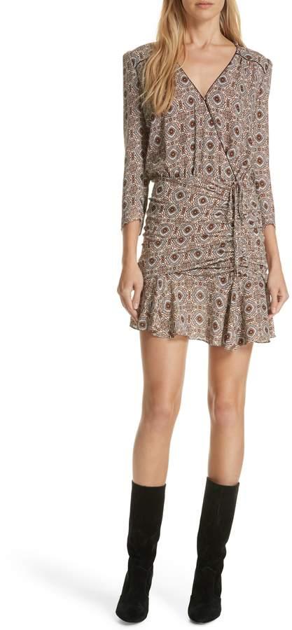 Veronica Beard Alamo Print Silk Dress