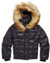 S13/Nyc S 13/NYC Girl's Faux-Fur Trim Hooded Quilted Coat