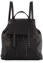 Bottega Veneta Intrecciato Medium Backpack, Black