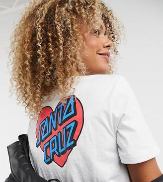 Santa Cruz Heart Dot cropped t-shirt in white Exclusive at ASOS