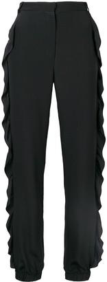 Sonia Rykiel tapered ruffle trim trousers