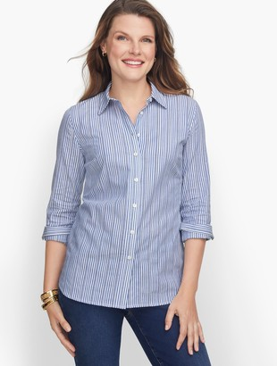 Talbots Classic Cotton Shirt - Dobby Stripe