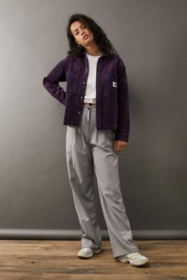 Carhartt WIP Corduroy Foya Shirt Jacket - Purple XS at Urban Outfitters