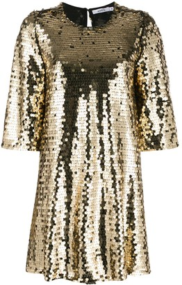 Amen Sequin Shift Dress