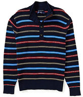 Daniel Cremieux Cashmere Waffle Horizontal-Stripe Sweater