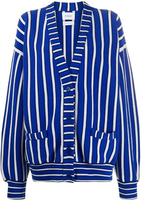 Barrie Striped Oversized Cardigan