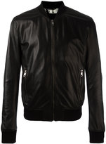 Dolce & Gabbana perforated leather bomber jacket - men - Silk/Lamb Skin - 50