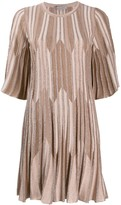 D-Exterior D.Exterior striped lurex knit dress