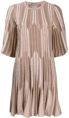 D-Exterior D.Exterior striped lurex knit dress