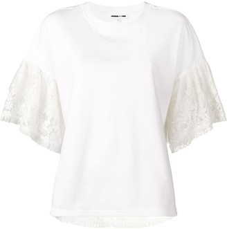 McQ Swallow Ivory lace top