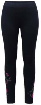 Style&Co. Style & Co Embroidered Pull-On Leggings, Created for Macy's