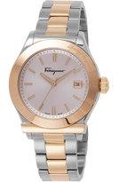Salvatore Ferragamo 40mm 1898 Men's Two-Tone Bracelet Watch, Silver/Gold