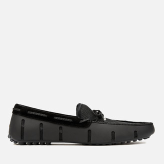 Swims Men's Braided Lace Lux Driver Loafers - Black/Graphite