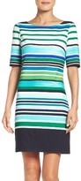 Eliza J Petite Women's Scuba Shift Dress