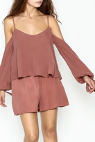 Sage Cold Shoulder Romper
