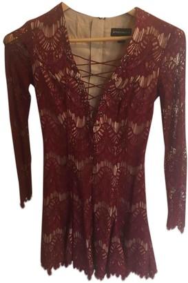 Style Stalker Burgundy Cotton Dress for Women
