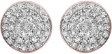 Monica Vinader Ava 18ct rose gold-plated and diamond button stud earrings