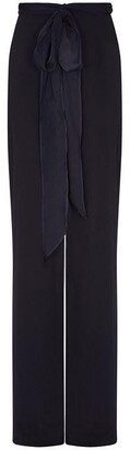Adrianna Papell Crepe Satin Bow Pant