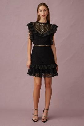 Keepsake GLASS MINI DRESS Black