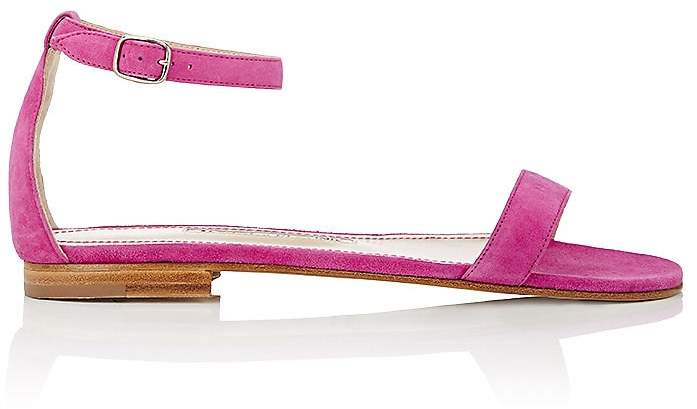 Manolo Blahnik Women's Chalfa Suede Ankle-Strap Sandals