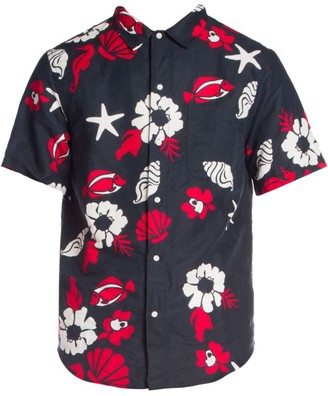 Thom Browne Straight-Fit Printed Linen-Blend Shirt
