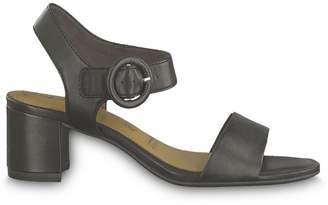 Tamaris Desie Leather Sandals with Block Heel